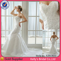 Mermaid lace and bling in the center of lace wedding dresses