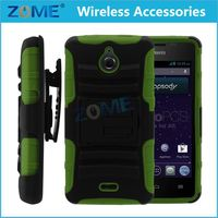 New Products Rugged Hybrid Impact Silicone Pc Combo Holster Cover Case With Clip For Lg Optimus F3 Ls720 Ms659