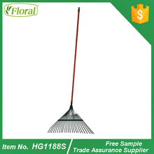 iron leaf grabber rake with handle