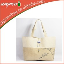Heavy duty wholesale fashional natural cotton canvas college tote bag