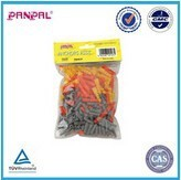 plastic expension 100pcs assorted anchor,colorful plastic tepered wall plug