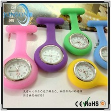 Cheapest factory direct price custom nurses waterproof fob watches colorful silicone watch nurse