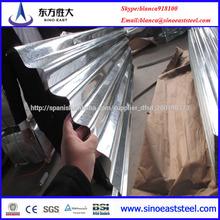 Zinc revestimiento de chapa cubierta para techos