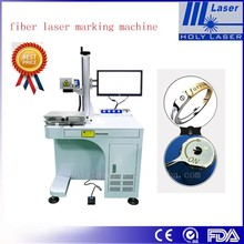marking on tin ,ring fiber laser marking machine no damage and fast