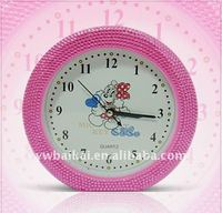 Promotional round crystal alarm clock
