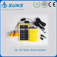 Short time delivery starter solar kit for home with cellphone charger