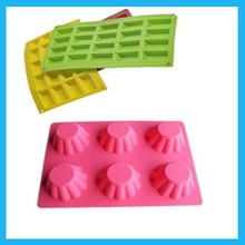 Rectangle Lace Pattern Pink Food Grade Silicone Cake Clay Mold