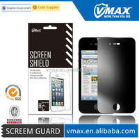 White privacy screen protectors for iPhone 4 oem/odm