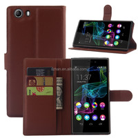 New Luxury Litchi wallet leather cover case with card holder For ZTE Blade S6 Lux Q7