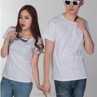 custom logo white color cheapest t shirt