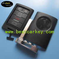 Hot sale smart key fob shell for 4+1 button cadillac key cadillac key cover with key blade