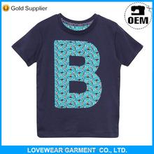 popular wholesale 100%cotton blue cartoon blank kids t shirts