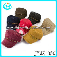 long peak baseball cap with rivet and zipper sports cap wholesale