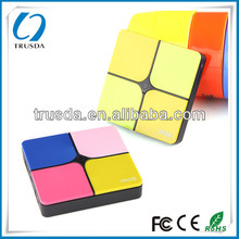 Top seller newest Colorful Replaceable cube unique design li polymer express power bank for smart phone