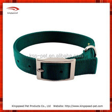 2015 Wholesale Eco-friendly Green Nylon Webbing Buckle Dog Collar