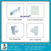 High quality pvc roof rain drain water gutters and fittings