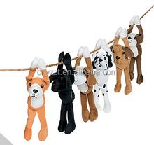 Plush Long Arm Dogs/plush hanging dog party decorations/custom long arm stuffed dog toys