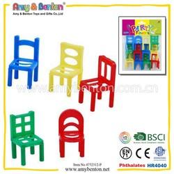 12pcs Multicolor Mini Chair Toys Children's Party Toys For Promotional