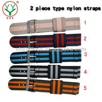 2 piece type NATO strap,nato watch straps,18-26mm,watch band factory