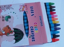 promotion gift education toys cartoon crayon and stickers set