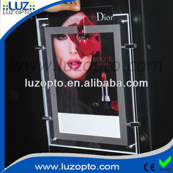 light up picture frame, lighted plastic advertising signs, led acrylic frameless picture holder