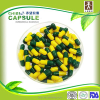 Different sizes of medicinal empty gelatin blue white capsule