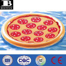 Promotional customized PIZZA pool tube inflatable pool float big pizza pool tube round float