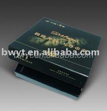 silk screening packaging boxes/glossy lamination gift box