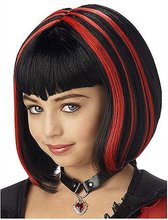 two colored synthetic braiding hair wig