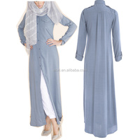 Light weight denim abaya dress fashion new islamic clothing traditional women long abaya with pockets