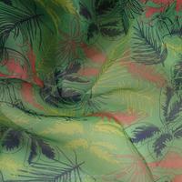 Printed organza/organdy Fabric with leaf design