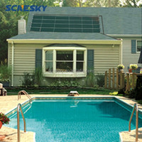 china market flat plate swimming pool heater solar collector