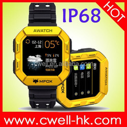 MFOX AWATCH IP68 Waterproof Bluetooth Android Smart Watch JZ4775 CPU Built-In Heart Rate Sensor, Electronic Compass And Pedomete