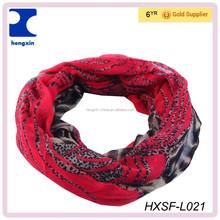 Hot sell custom scarf digital print design neckerchief HXSF-L021