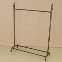 Metal manufacture clothes hanging rack for garment display