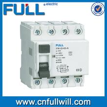 FWID electrical type rccb residual current circuit breaker
