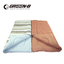 2015 AIMIKA OEM strip pattern cotton cover indoor couple sleeping bag for lovers
