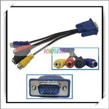 Converter Cable For VGA SVGA To S-Video 3 RCA