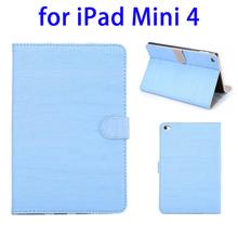 Hot selling Retro Wood leather case for ipad mini 4 smart case
