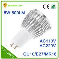 High Power Aluminum 500lm E27 E14 E26 GU10 Base car cigarette lighter spotlight