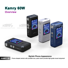 New arrival 60watt box mod kamry60 vv vw pipe ecig mod wholesale e cig accept paypal