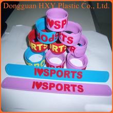 HXY Debossed Silicone Slap Band Wide Slap Bracelet & Silicone slap wristband Wholesale