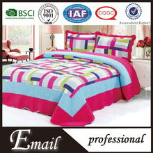 2015 fashion style crochet stitching hawaiian quilt/quilted plain thin bedspread