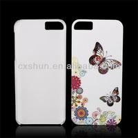 White Beatify Butterfly Hard Plastic Case Back Cover for Apple iPhone 4/4S