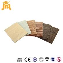 100% Asbestos Free Durable Natural Wooden Grain Calcium Silicate 3D Wall Panel