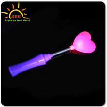 Lovely hot selling heart shaped led light up glow stick for party events decoration
