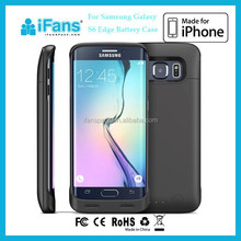 3500mAh External Backup Battery Charger Case/Mobile Phone Case Cover for Samsung Galaxy S6 Edge