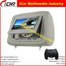Model: 21V7 Headrest Car DVD Player with USB/ SD slot, Game system 7 inch shenzhen car dvd android