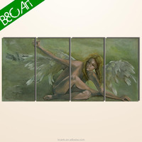 Realistic naked woman wall painting african nude girl angel oil painting