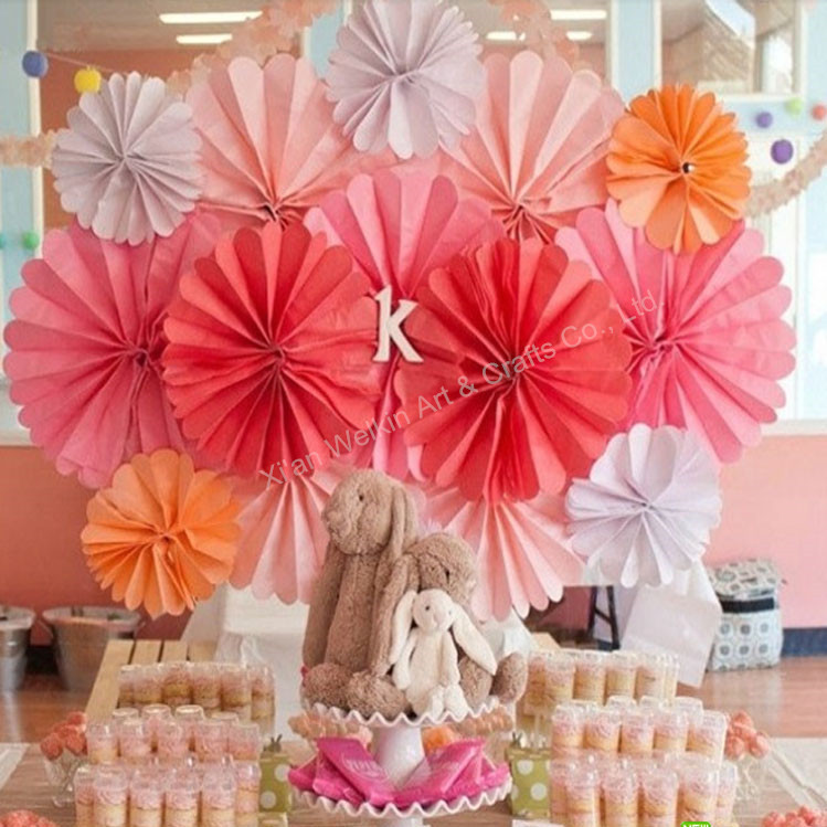 Paper decorations wall hanging paper fan, View wall hanging paper ...
